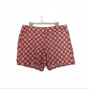 Recreation casual cotton shorts red pink 14